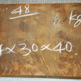 Golden Madrone burl approx. 411 x 290 x 46 mm, 4,6 kg