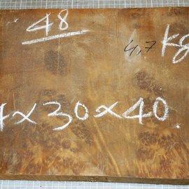 Golden Madrone Maser ca. 411 x 290 x 46 mm, 4,6 kg