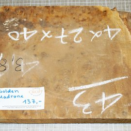 Golden Madrone burl approx. 410 x 270 x 45 mm, 3,7 kg