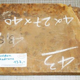 Golden Madrone Maser ca. 410 x 270 x 45 mm, 3,7 kg
