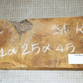 Golden Madrone burl approx. 440 x 200 x 40 mm, 2,7 kg