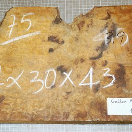 Golden Madrone burl approx. 420 x 300 x 48 mm, 3,8 kg