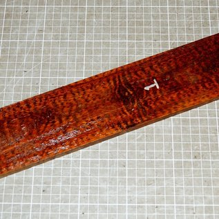 Schlangenholz MF, Griffbrett ca. 510 x 75 x 9 mm, 0,5 kg