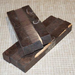 Grenadill Kanteln, 3 Stk/Stz, ca.150-300 x 33-40 x 33-40mm, B-Qualität