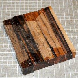 Macassar Penblanks, 5 pieces - set, approx. 20 x 20 x 110 mm