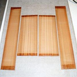 Sapele Mahogany, Set back/side, mirror cut