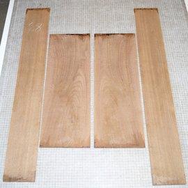Black Walnut, Set back/side, mirror cut