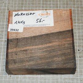 Macassar Ebony, approx. 165 x 161 x 52 mm, 1,4 kg