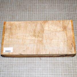 Spitzahorn geriegelt, ca. 300 x 150 x 52 mm, 1,4 kg