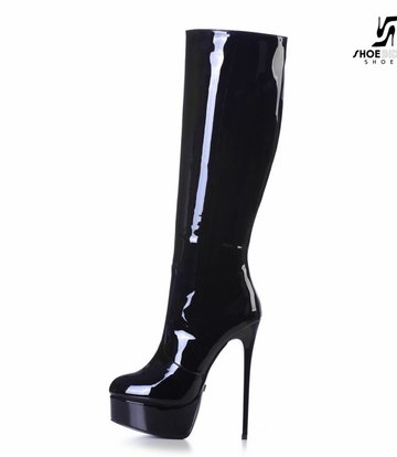 "Giaro Black shiny Giaro ultra ""Galana"" knee boots"