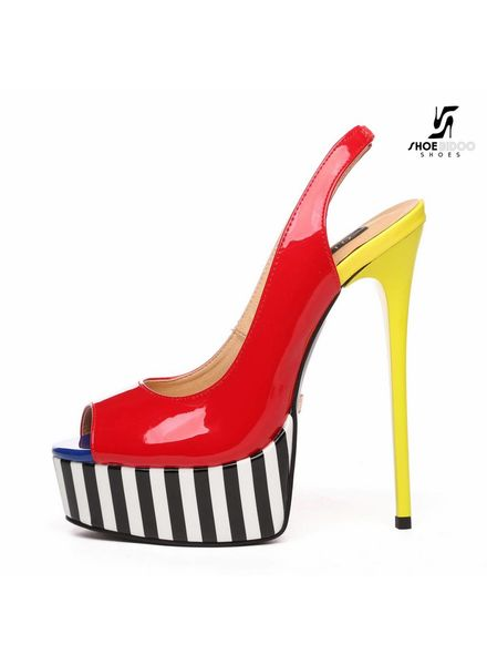 Giaro GALANA 1015 | RED YELLOW | PLATFORM SANDALS