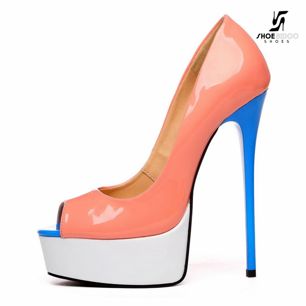 326fbbcc6663 Giaro Pink white and blue open toe Giaro