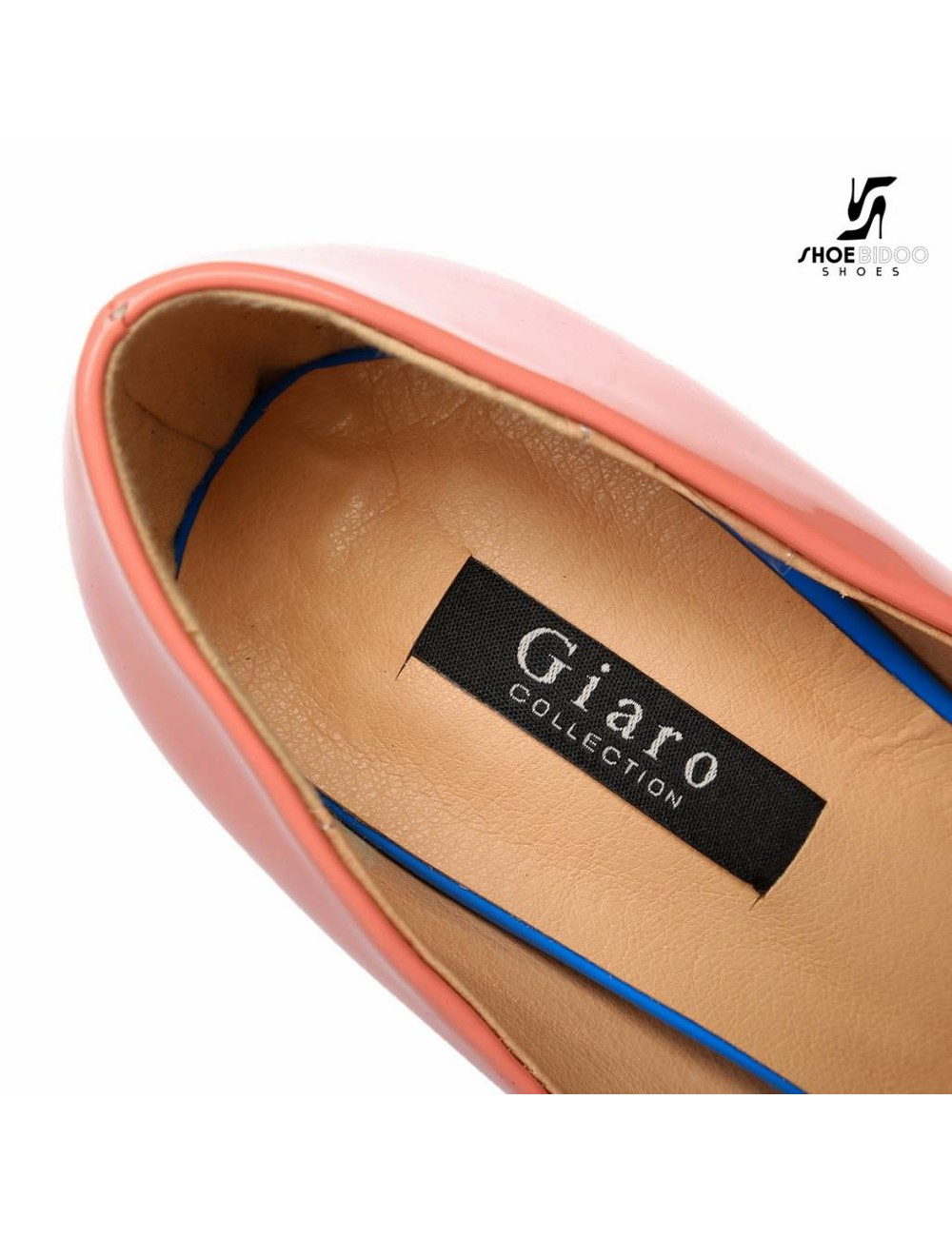 "Giaro Roze-wit en blauwe Giaro ""Galana"" open teen  platforms"