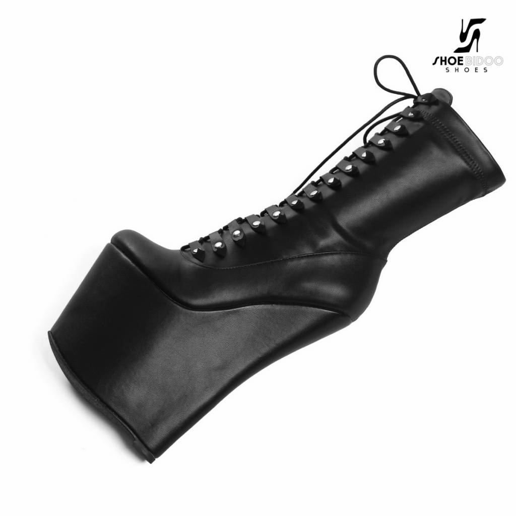 Giaro Black Giaro wedge lace up ankle boots