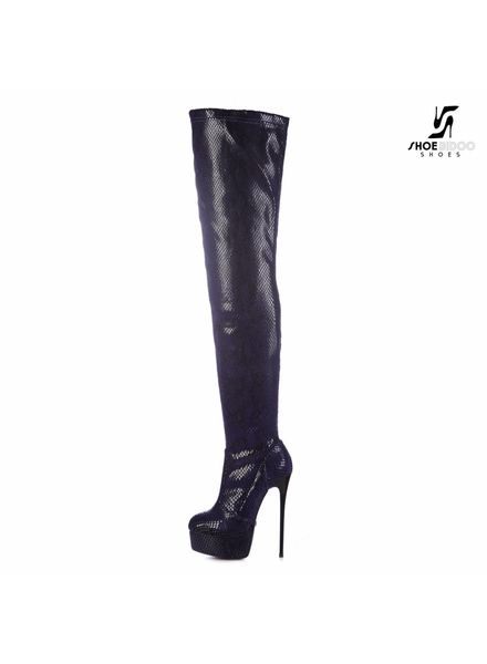 Giaro GALANA 1004 | VIOLET SNAKE | THIGH HIGH BOOT