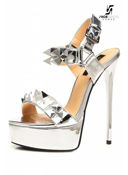 Giaro MISS GIARO | SILVER SHINY | PLATFORM SANDAL