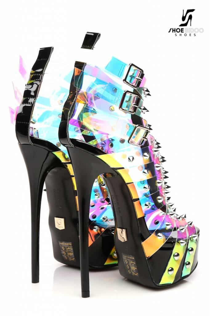 "Giaro Multi-color transparant ""Galana"" designer enkellaarsjes"