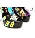 "Giaro Multi transparant ""Galana"" designer ankle boots"