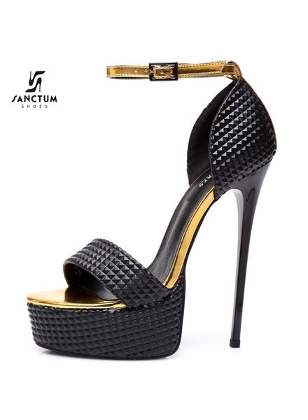 Giaro GALANA 1002 | BLACK 3D | PLATFORM SANDALS