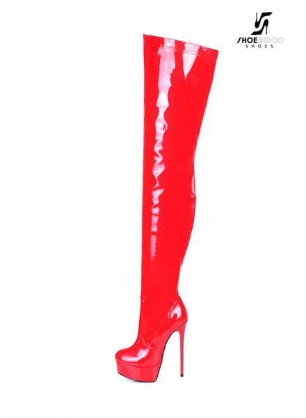 Giaro GALANA 1004 | RED SHINY | THIGH HIGH BOOTS