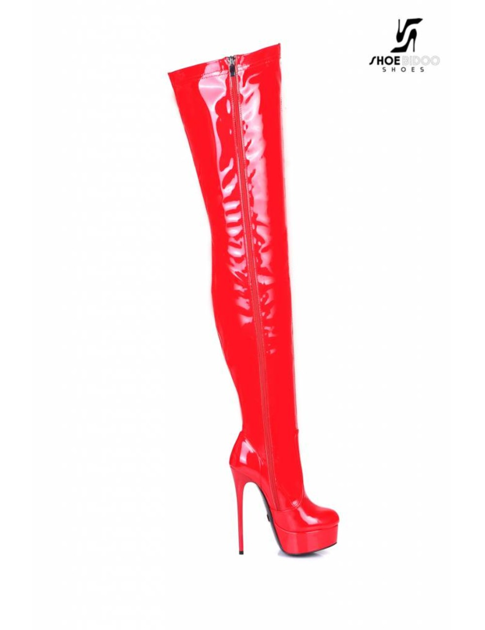 "Giaro Red shiny Giaro ultra ""Galana"" thigh boots"