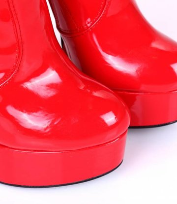 "Giaro Rot glänzende Giaro ultra ""Galana"" Oberschenkelstiefel"
