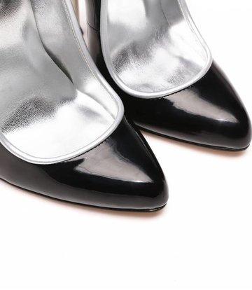 Giaro Schwarze Pumps mit ultrahohen silbernen Metallabsätzen
