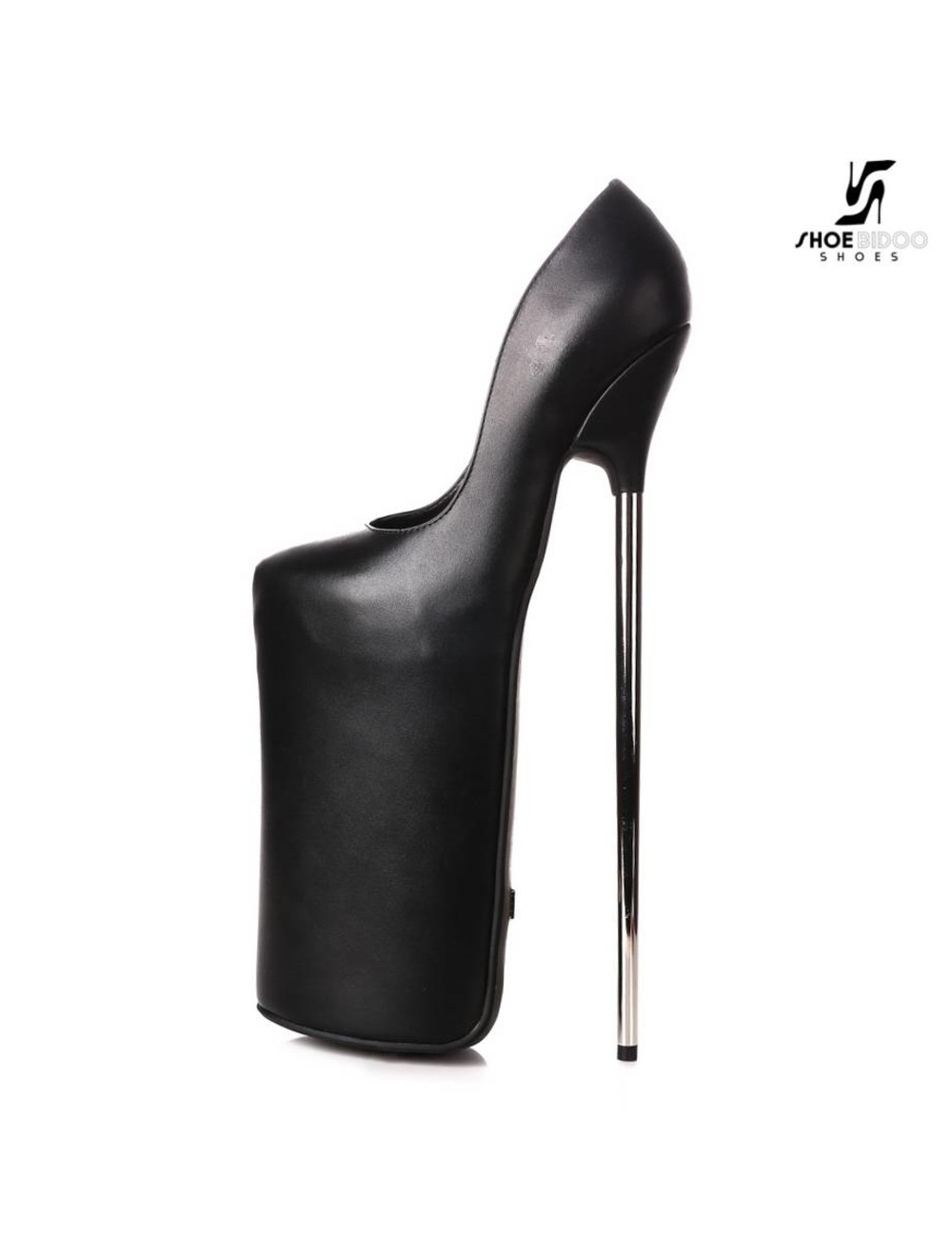 Giaro Black fetish monster pumps with ultra high silver metal heels