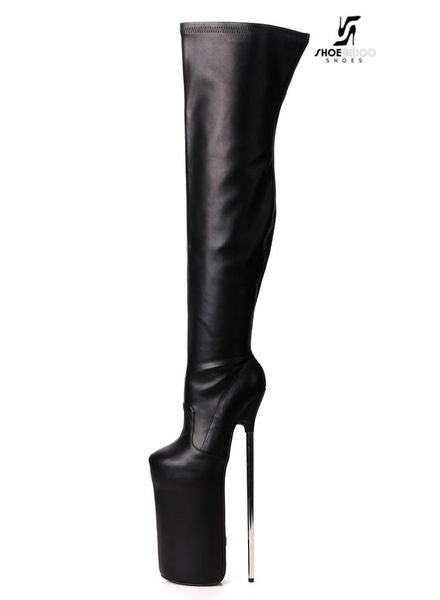 Giaro FLY HIGH | BLACK MATTE | PLATFORM THIGH BOOTS 30CM