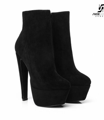 "Giaro Black Velour Giaro ""Destroyer"" ankle boots"