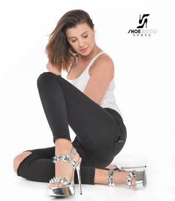 Giaro Olga in silver Galana Sandals