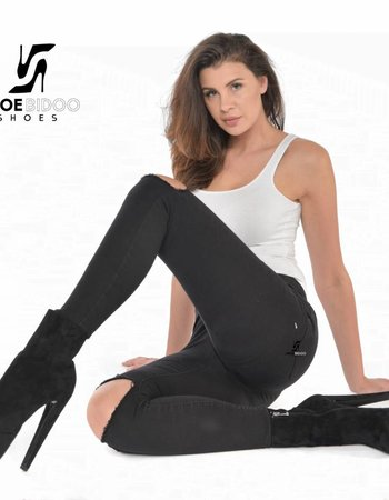 Giaro Olga in soft suede tough ankle boots