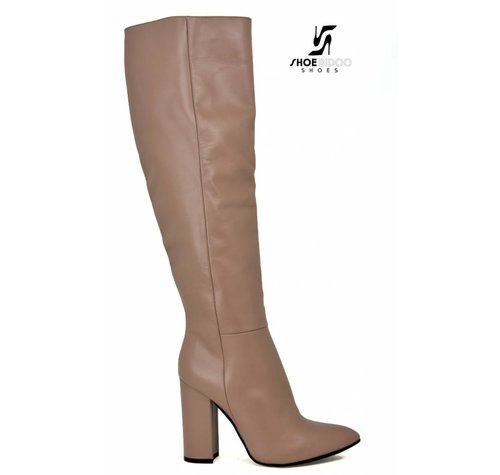 Sanctum Shoes DBL100 - ITALIAN KNEE BOOTS DESERT VITELLO
