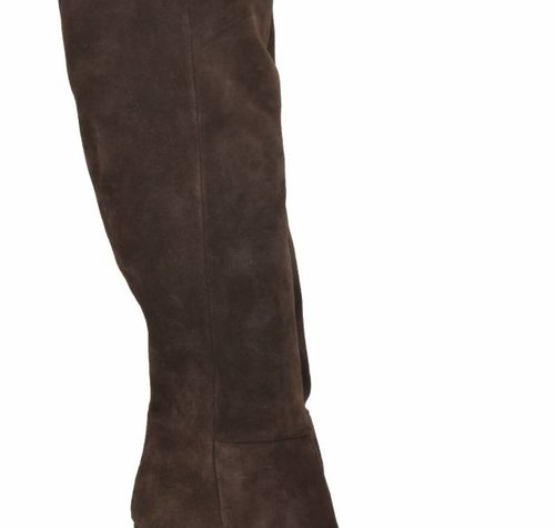 Sanctum Shoes DBL100 - ITALIAN KNEE BOOTS  CHOCO SUEDE VELOUR