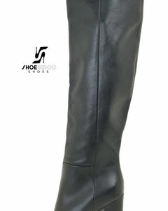 Sanctum Shoes DBL100 - ITALIAN KNEE BOOTS  NERO VITELLO
