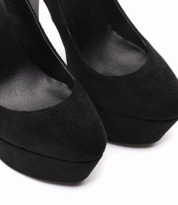 "Giaro Black velour Giaro ""Destroyer"" platform pumps with high thick heels"