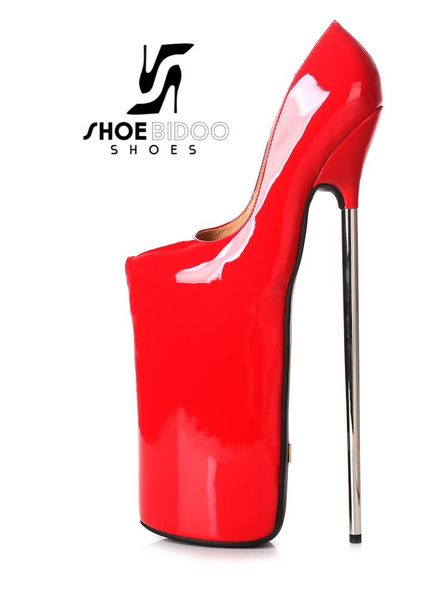 Giaro FLY AWAY | RED SHINY | PLATFORM PUMPS 30CM
