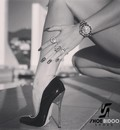 Giaro Rebecca More in our black fetish Giaro BABY heels