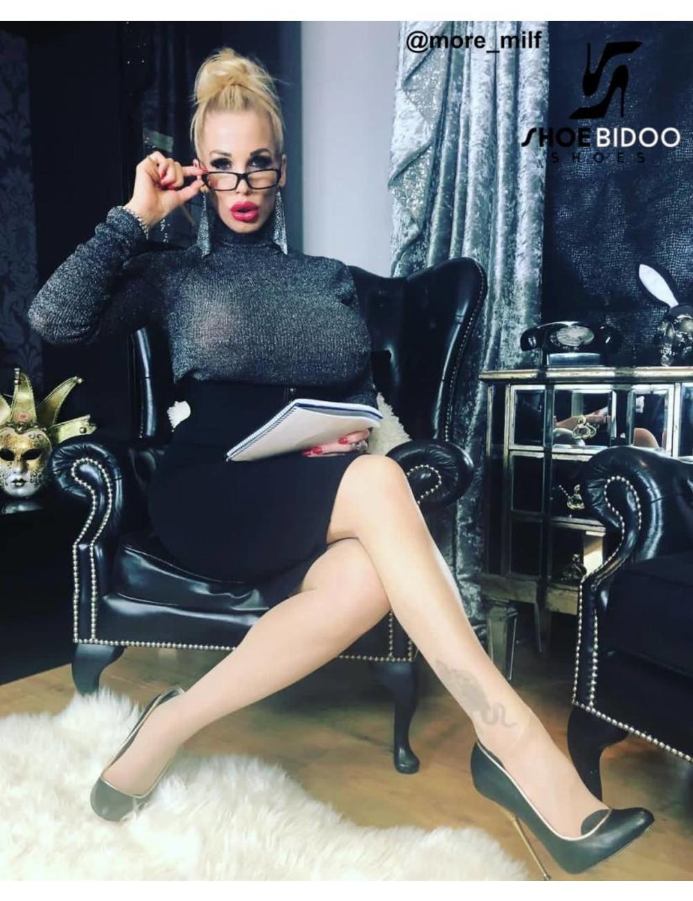 Giaro Rebecca More in onze zwarte fetish Giaro BABY hakken