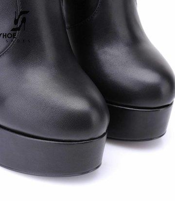 Giaro Zwarte platform knielaarzen met ultra hoge hakken