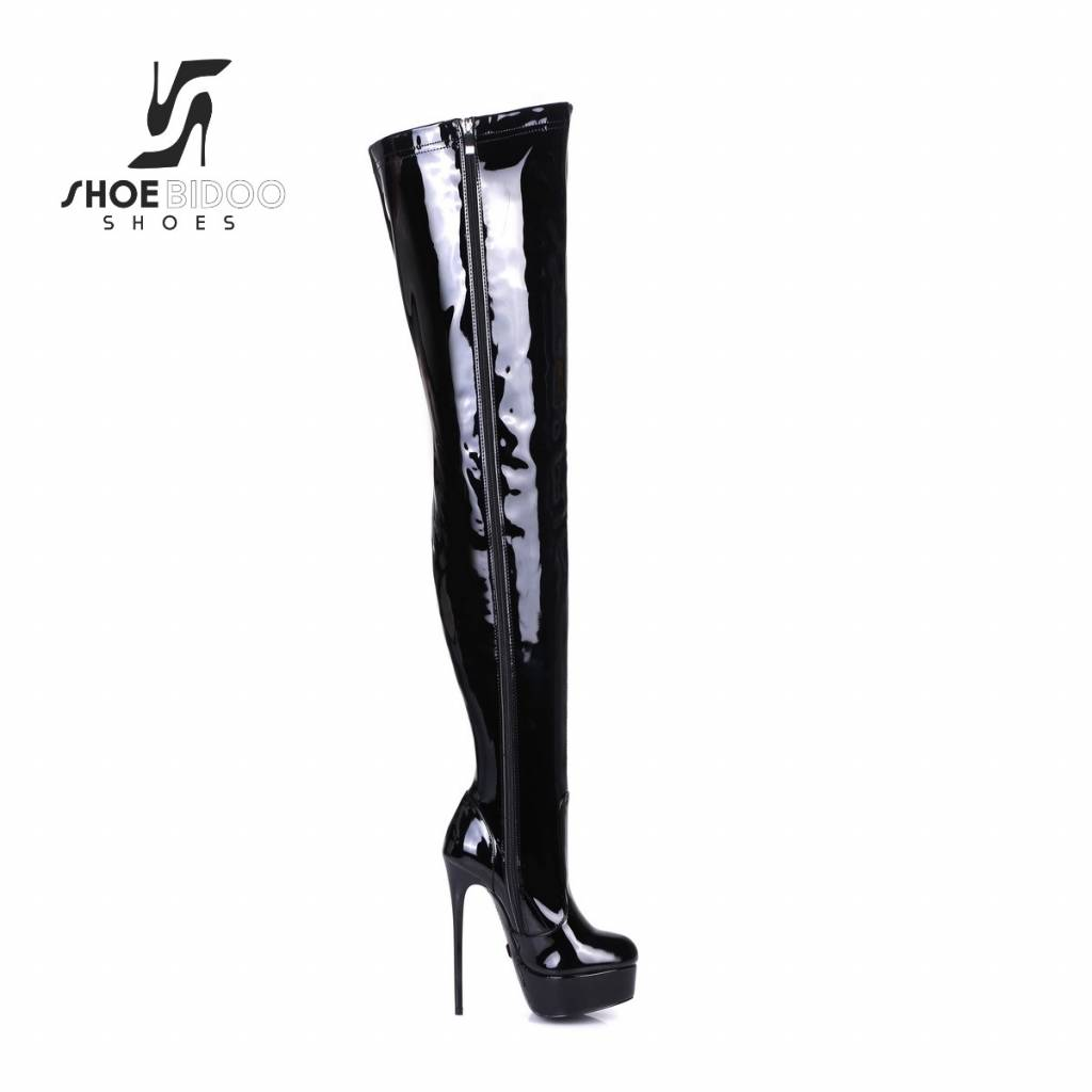 "Giaro Black shiny Giaro ultra ""Galana"" thigh boots"