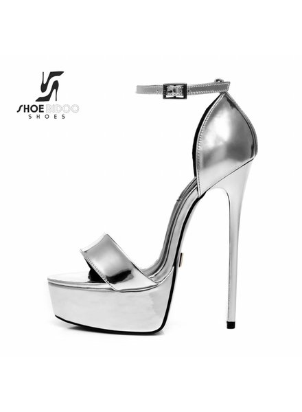 Giaro GALANA 1002 | LIQUID SILVER | PLATFORM SANDALS