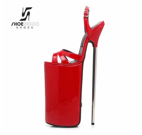 Giaro FLY OPEN | RED SHINY | PLATFORM SANDALS 30CM
