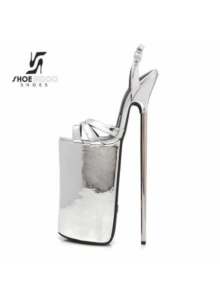 Giaro FLY OPEN | SILVER SHINY | PLATFORM SANDALS 30CM