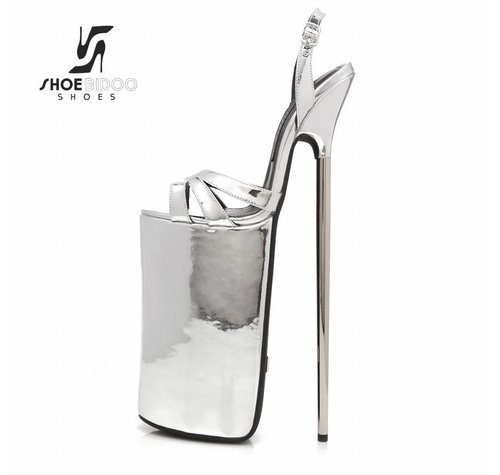 Giaro FLY OPEN | LIQUID SILVER | PLATFORM SANDALS 30CM