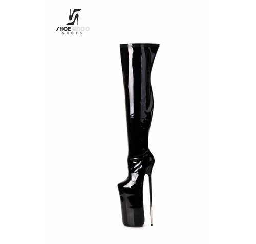 Giaro FLY HIGH | BLACK SHINY | PLATFORM THIGH BOOTS 30CM