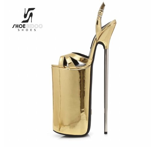 Giaro FLY OPEN | GOLD SHINY | PLATFORM SANDALS 30CM