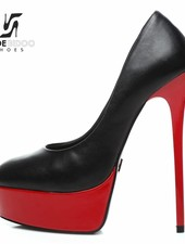 Giaro GALANA 1001 | BLACK RED SHINY | PLATFORM PUMPS