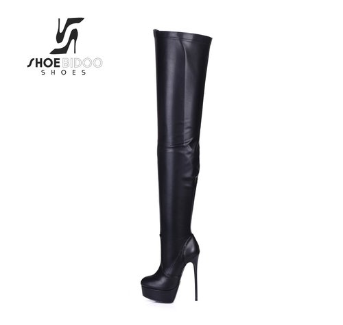 Giaro GALANA 1004 | BLACK MATTE | THIGH HIGH BOOTS