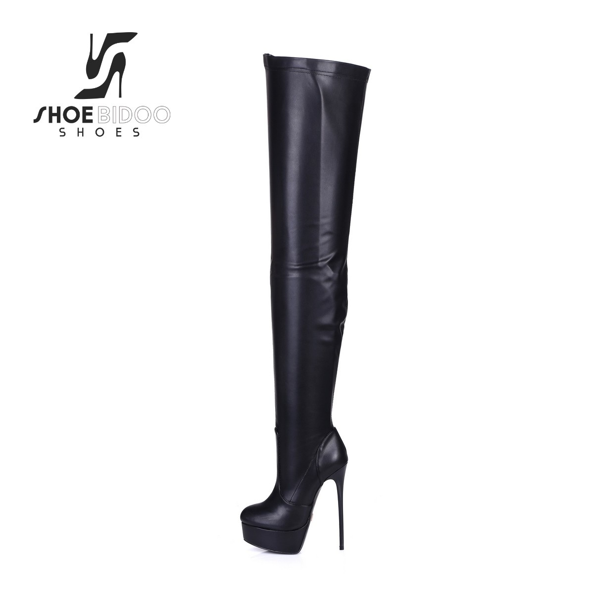 a28e744995b Black Giaro high 16cm heeled thigh boots - Shoebidoo Shoes